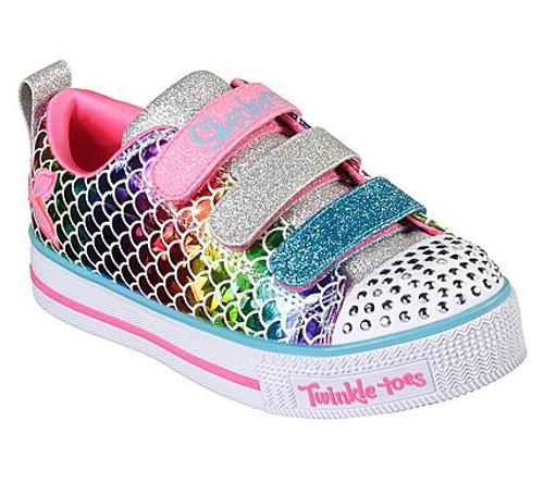 Skechers Twinkle Toes Sparkle Scales Rainbow Mermaid Pumps