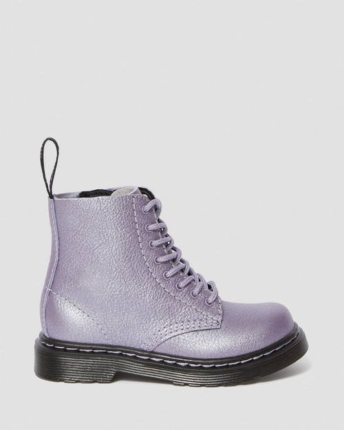 Dr Martens Pascal Lavender Metallic Toddler Boot 1460