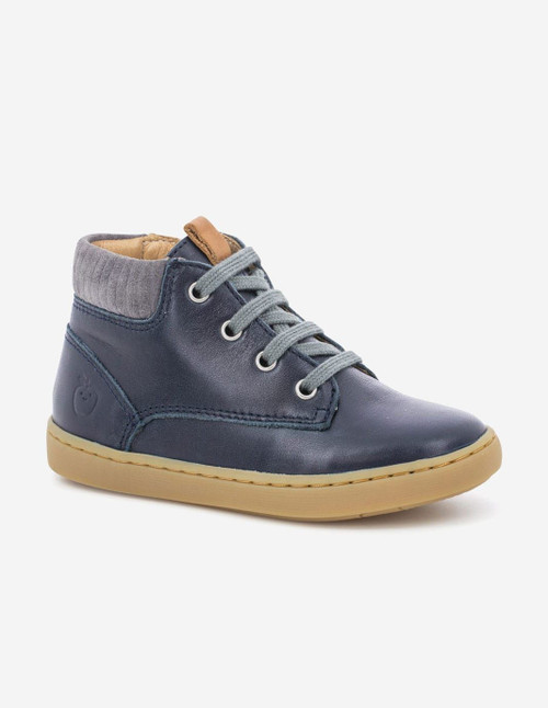 Shoo Pom Play Desert Navy & Grey Zip & Lace Boot