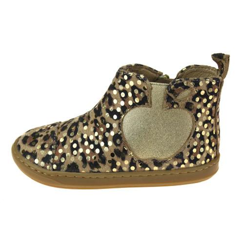 Shoo Pom Bouba Apple Leopard Dots & Gold Jodhpur Boot