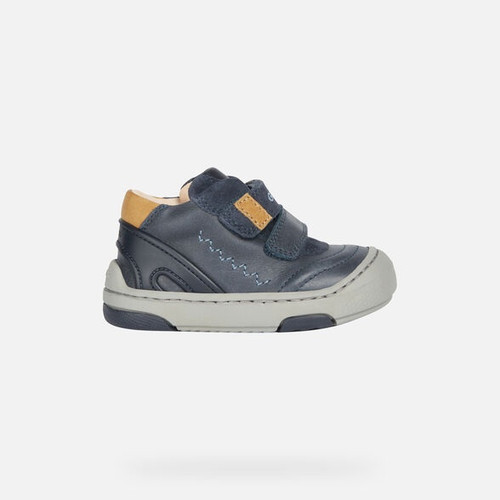 Geox JayJ Navy Waxed Leather Boot
