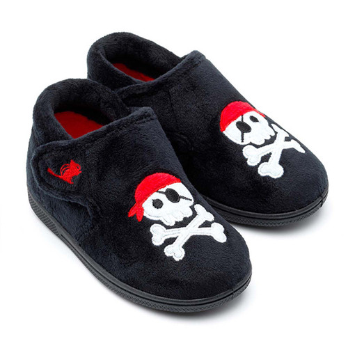 Chipmunks Jolly Rodger Pirate Slippers