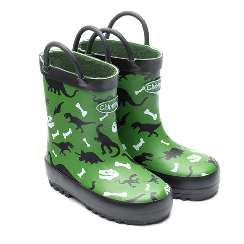 Chipmunks Jurassic Dinosaur Green Wellies