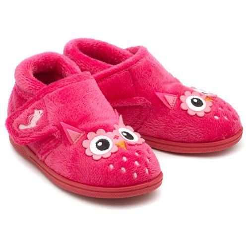 Chipmunks Olive Pink Owl Slippers