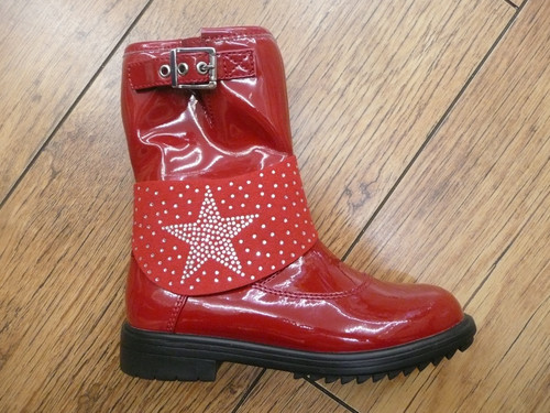 Lelli Kelly Betty Mid Red Patent Boot
