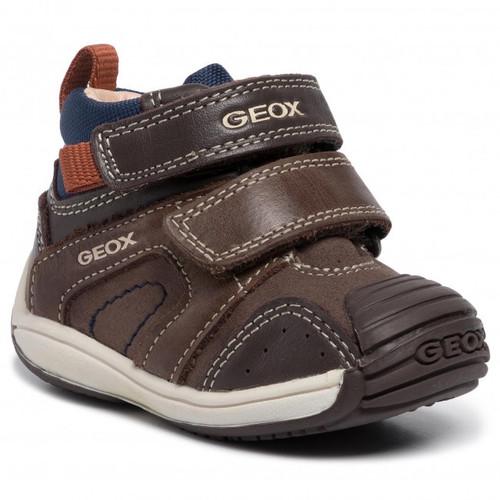 Geox Toledo Boy Chestnut & Navy Rip Tape Boot