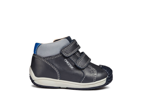 Geox Toledo Navy & Grey Leather Double Strap Boot