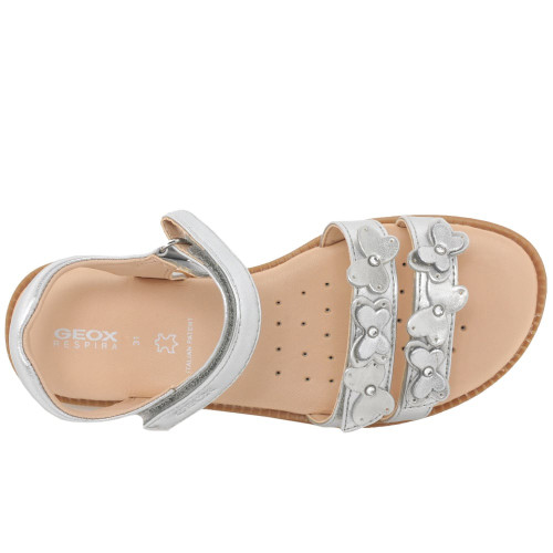 Geox Karly Silver Pearl Butterfly Sandal