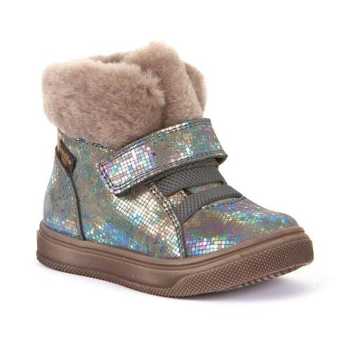 Froddo Silver Multicoloured Fur Trim Boot