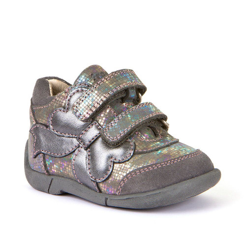 Froddo Silver Multicoloured Bow Trim Rip Tape Boots