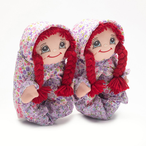 Lelli Kelly Rossa Red Head Lilac Doll Slippers