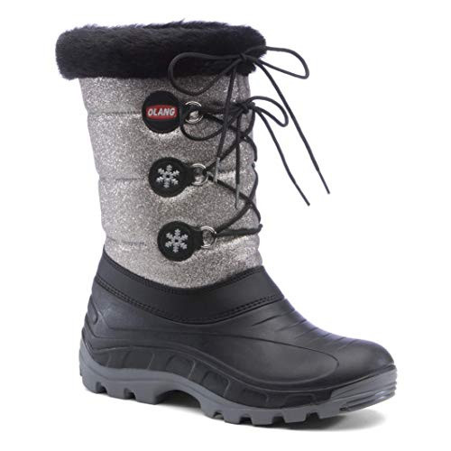 *Olang Patty Lux Metallic Silver Snow Boot