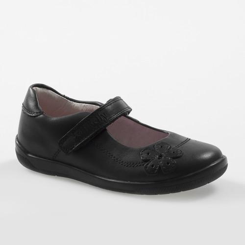 Lelli Kelly Leora Black Leather School Shoe F Fit