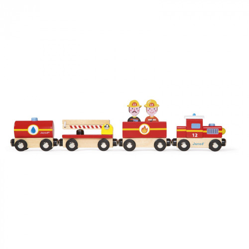 Janod Story Firefighter Wooden Train
