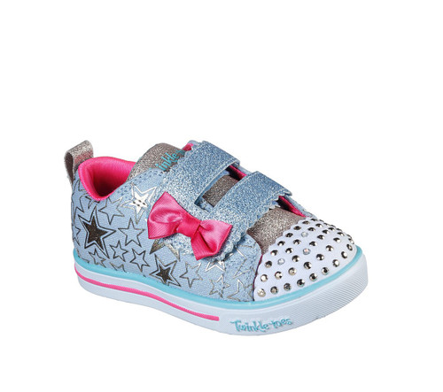 Skechers Twinkle Toes Sparkle Lite Stars So Bright Toddler Pumps