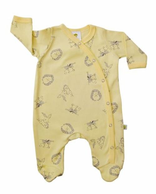 Baby Acorn Yellow Woodland Sunshine Print Babygro