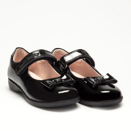 Lelli Kelly Perrie Black Patent Girls School Shoe LK8226 E Fit