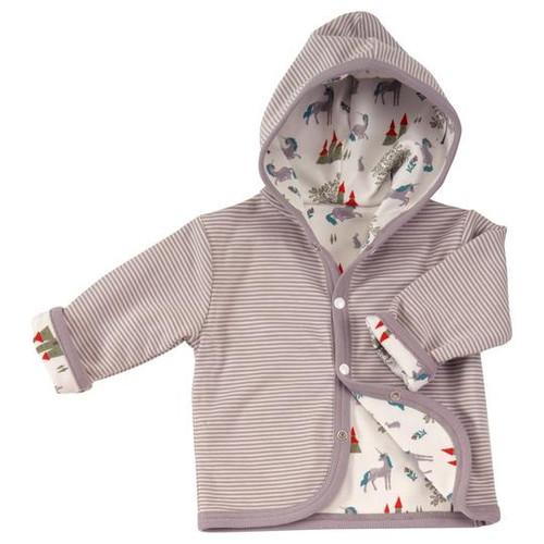 Pigeon Unicorn & Slate Reversible Hooded Jacket