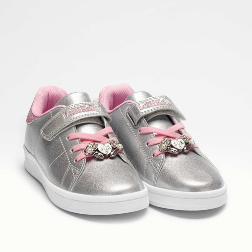 Lelli Kelly Sarah Silver & Pink Angel Wing Charm Rip Tape Bungee Cord Girls Trainers