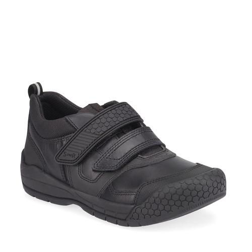 StartriteStrike(G) Black Leather Shoe