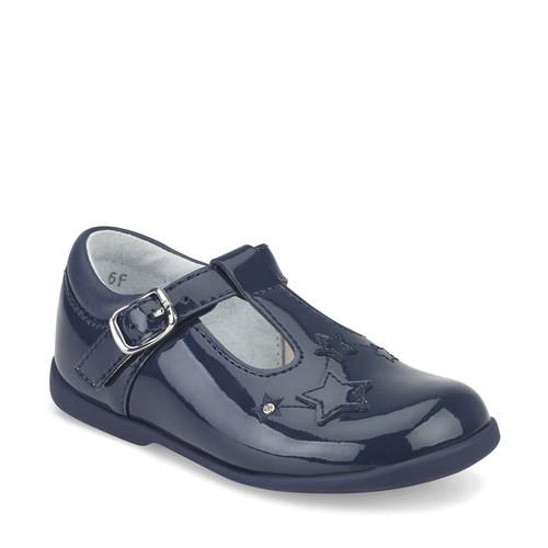 Start-rite Star Gaze (E) Navy Patent T-Bar Buckle Shoe