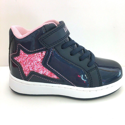 Lelli Kelly Navy & Pink Estelle Hi Top Trainer With Flashing Lights