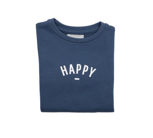 Bob & Blossom Denim Blue Happy Sweatshirt