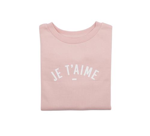 Bob & Blossom Blush Pink Je T'aime Slim Fit Sweatshirt