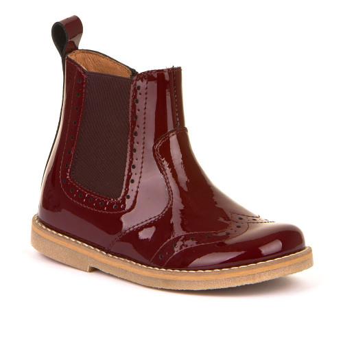 Froddo Burgundy Patent Classic Chelsea Boot