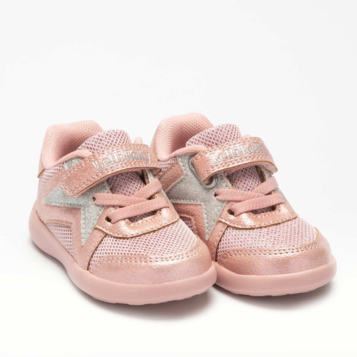 Lelli Kelly Crystal Pink Rip Tape Trainers