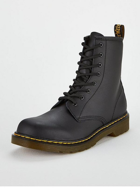 Dr Martens Softy T Black Leather Junior Boot