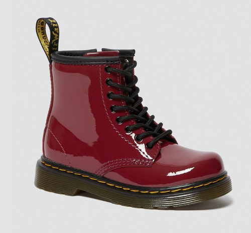 Dr Martens Dark Scooter Red Patent Junior 1460 Boot