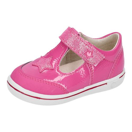 Ricosta Pepino Mandy Rosada Pink Patent Star T-Bar Scuff Toe Shoe