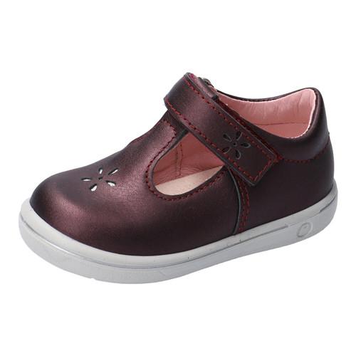 Ricosta Winona Roano Copper Metallic Leather T-Bar Shoe