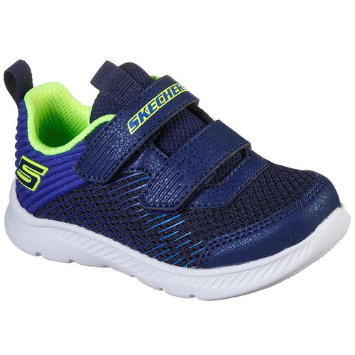 Skechers Comfy Flex 2.0 Micro Rush Navy & Lime Trainers