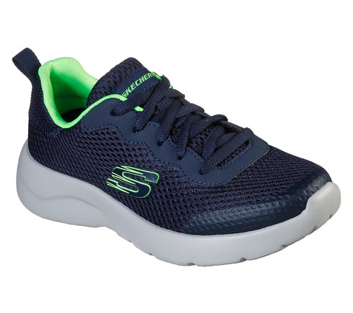 Skechers Dynamight 2.0 Navy & Lime Trainers