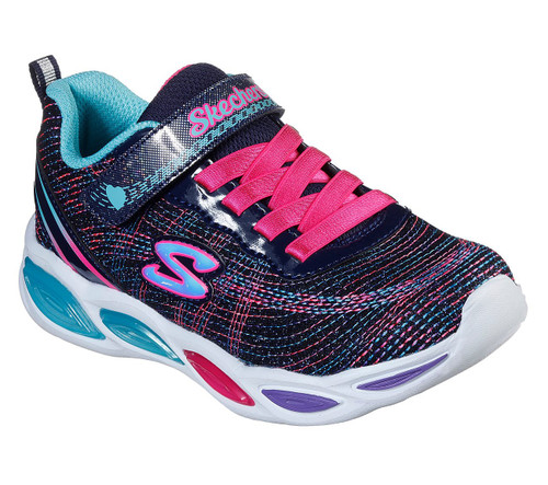 Shimmer Beams Sparkle Glitz Navy Multi Light Up Trainers