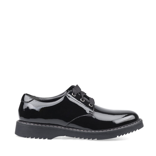 Angry Angels Impact (M) Black Patent Lace Shoe