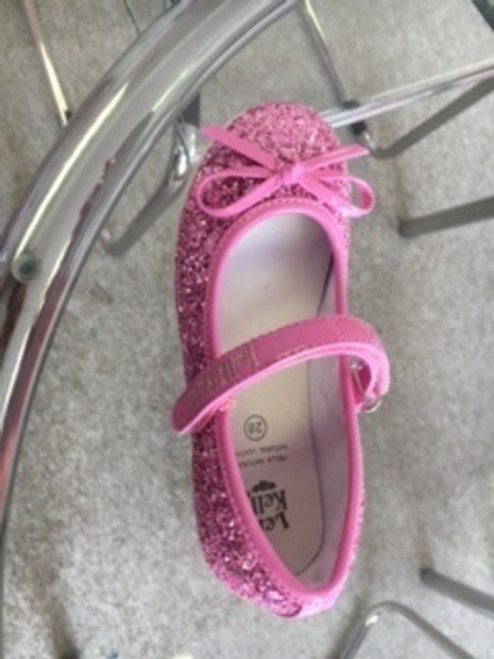 LK Isabel Pink Glitter Dolly Shoe
