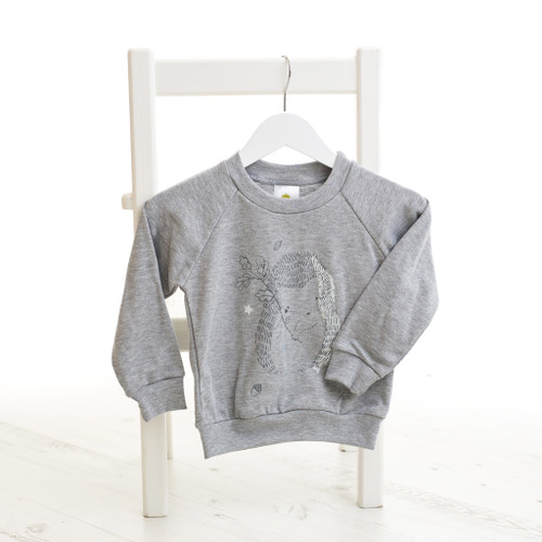 Baby Acorn Hedgehog Grey Lightweight Sweatshirt