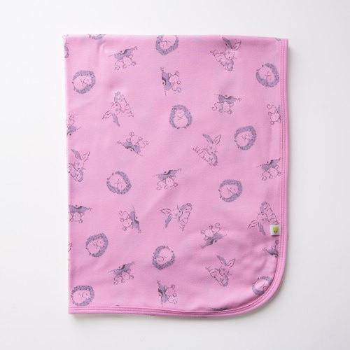 Baby Acorn Strawberry Woodland Reversible Blanket Shawl