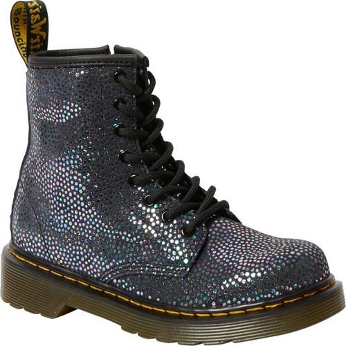Dr Martens Iridescent Black Spot Metallic Suede Junior 1460 Boot