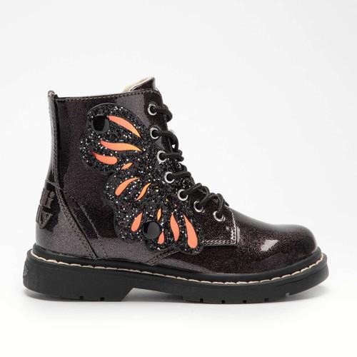 Lelli Kelly Fairy Wings Butterfly Black Glitter Boots