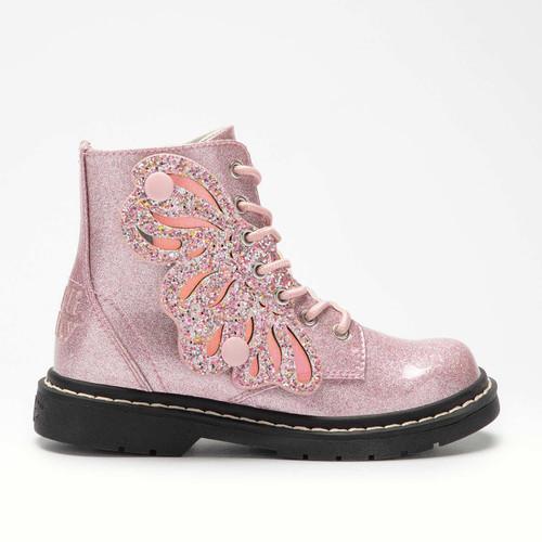 Lelli Kelly Fairy Wings Butterfly Pink Glitter Boots