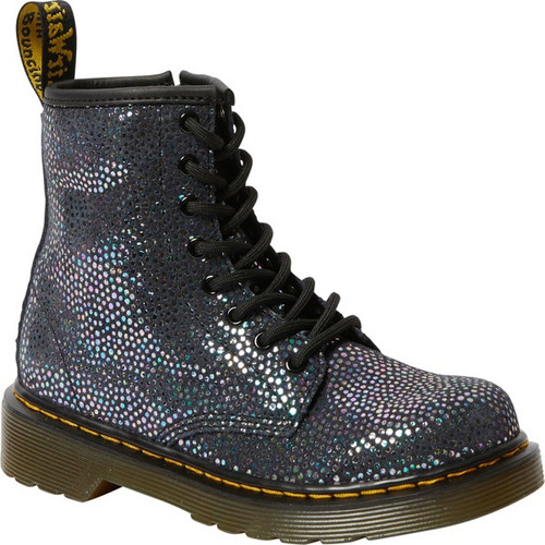 Dr Martens Iridescent Black Spot Metallic Suede Youth 1460 Boot