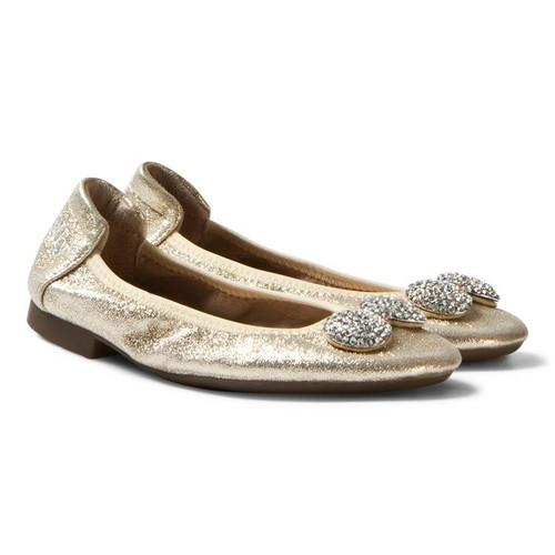 LK Magiche Gold Diamante Bow Shoe