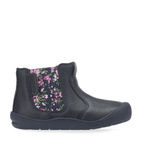 Start rite First Chelsea Navy (G) Floral Boot