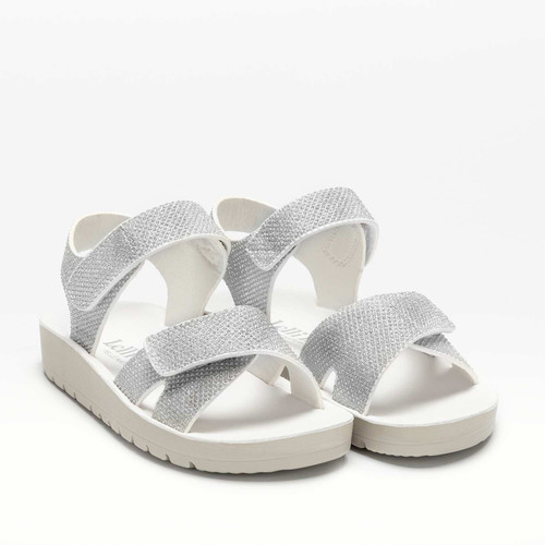 Lelli Kelly Clara Silver Adjustable Front Chunky Sole Sandals LK7532
