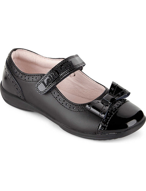 Lelli Kelly (F) Gabriella Patent and Leather Brogue Detail Bow Strap Shoe