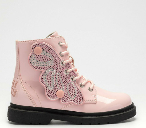 Lelli Kelly Fairy Wings Pale Pink Patent Butterfly  Boots